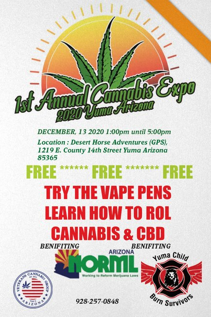 Veterans Cannabis Group 1st Annual Cannabis Expo in Yuma AZ 2020